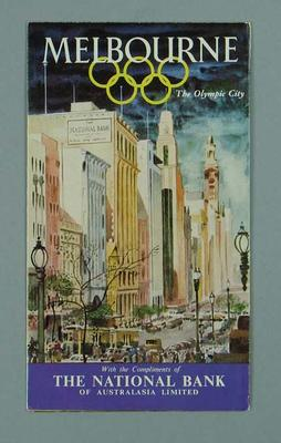 Map of Melbourne, 1956 Olympic Games