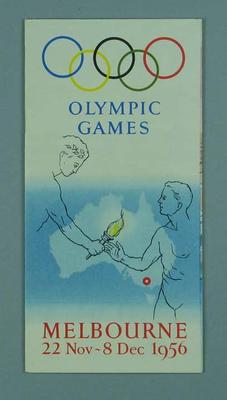 Map of Melbourne, 1956 Olympic Games; Documents and books; 1994.2983.31