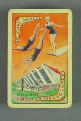 Playing cards, 1956 Olympic Games design