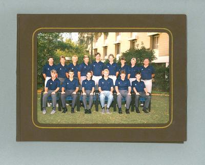 Photograph, Victorian Under 16 cricket team - Perth, 1986