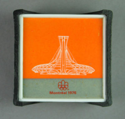 1976 Olympic Games commemorative coaster; Domestic items; 1986.1125.1