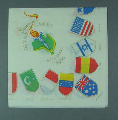 1956 Olympic Games Commemorative  white paper napkin