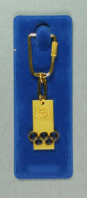 Keyring, International Olympic Committee; Personal effects; 1989.2187.16