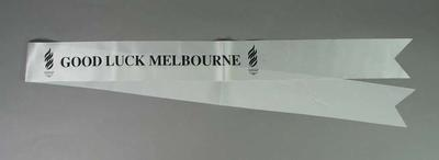 Sash, wishing Melbourne good luck for 1996 Olympic Bid decision