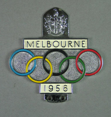 Car badge, 1956 Olympic Games