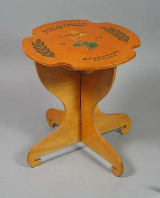 Coffee table, 1956 Olympic Games design