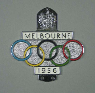 Car badge, 1956 Melbourne Olympic Games