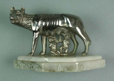Statuette of Romulus & Remus, 1960 Rome Olympic Games; Artwork; 1992.2693.43