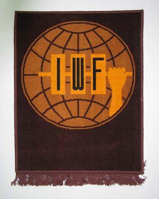 Wall hanging, International Weightlifting Federation c1990