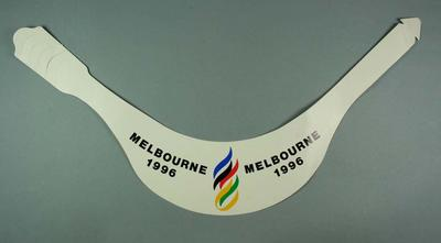 Card sun visor, Melbourne 1996 Olympic Games