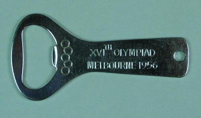 Bottle opener, 1956 Olympic Games