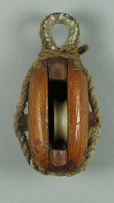"""Wooden pulley from yacht """"Frances"""""""