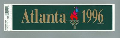 Sticker, 1996 Atlanta Olympic Games design