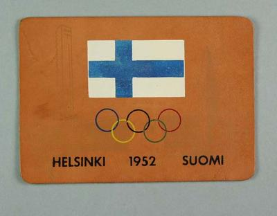 Leather patch, 1952 Olympic Games; Clothing or accessories; 1995.3098.3