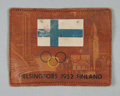 Leather patch, 1952 Olympic Games; Clothing or accessories; 1995.3098.4