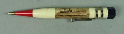Mechanical pencil with SS Monterey design, c1936