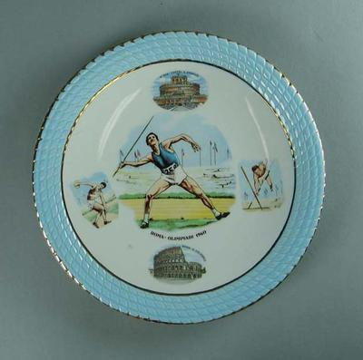 Plate, 1960 Rome Olympic Games design