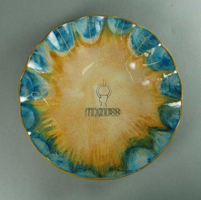 Plate, 1968 Mexico City Olympic Games design