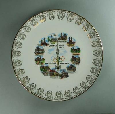 Plate, 1972 Munich Olympic Games design