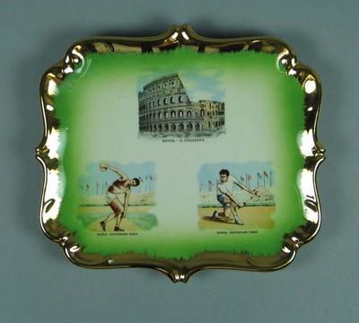 Ceramic plaque, 1960 Rome Olympic Games design