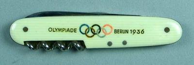 Pocket knife, 1936 Berlin Olympic Games design