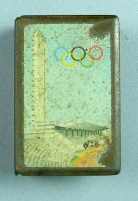 Matchbox cover, 1952 Helsinki Olympic Games design