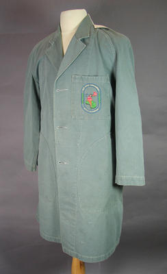 Dust coat, worn by Australian Post Office 1956 Olympic Games technicians