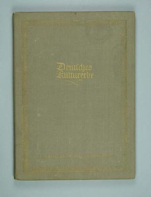 Hard cover book with prints of German cities, produced by German Democratic Republic c1956