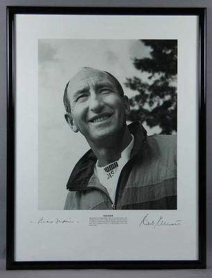 Photograph of Herb Elliott, taken by Max Dupain c1992; Artwork; Artwork; 1992.2641.1
