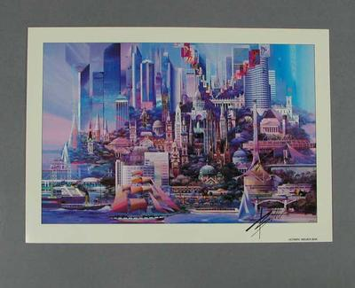 "Print, ""Olympic Melbourne""; Artwork; 1992.2715.16"