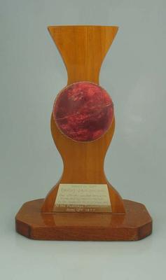 Trophy presented to Brian Dixon, (NOSE) Jailbreak - 1977