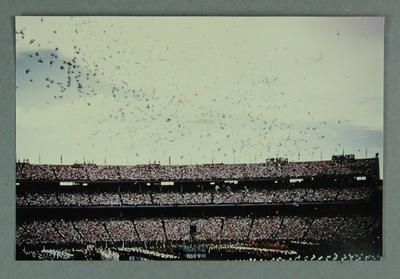 A print of a colour photograph - 1956 Olympics Opening Ceremony - release of pigeons, 22 November 1956