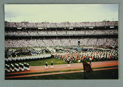 A print of a colour photograph - 1956 Olympics Opening Ceremony - Australian  Team marching, 22 November 1956