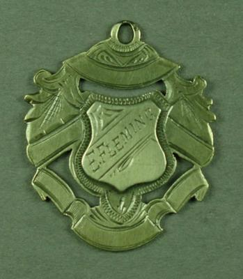 Medal presented to Edward Fleming, Boyle and Scott's Trophy - 1912/13