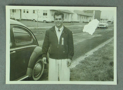 Photograph of Ray Perez at 1956 Olympic Village