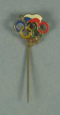 Stick pin, Olympic Rings & flag