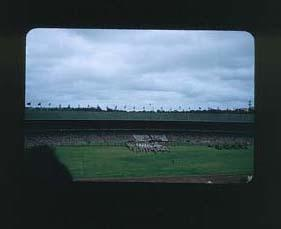 Colour slide: 1956 Melbourne Olympic Games Closing Ceremony