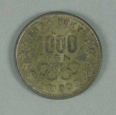 Commemorative 1000 yen coin, 1964 Tokyo Olympic Games