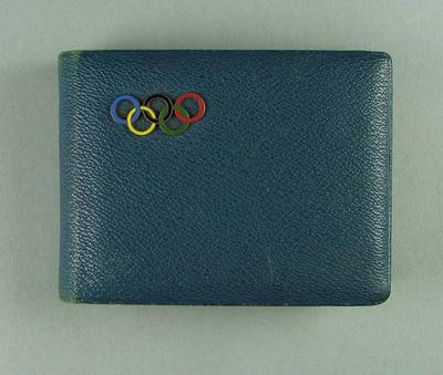 Commemorative photograph album, Les Harley at 1936 Olympic Games