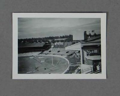 Photograph of an empty MCG, 1956 Olympic Games