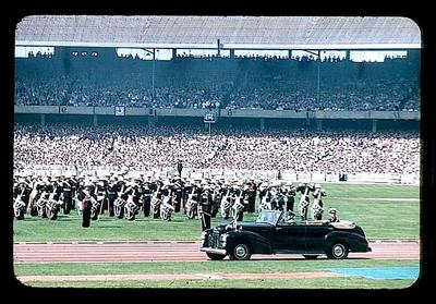 Slide, depicts 1956 Olympic Games Opening Ceremony