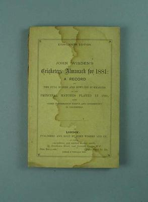 Wisden Cricketers' Almanack, 1881