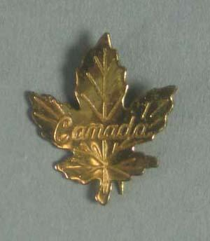 Badge, Canada with maple leaf