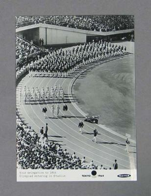Photograph of 1964 Tokyo Olympic Games Opening Ceremony; Photography; 1992.2693.23.5