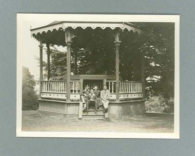 Photograph of group in gazebo, Daylesford Dec 1930
