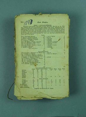Wisden Cricketers' Almanack, 1897; Documents and books; 1988.1956.15