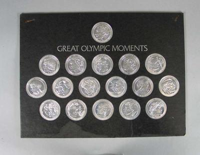 Medallions, commemorating Great Olympic Moments 1852-1964