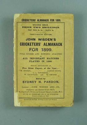 Wisden Cricketers' Almanack, 1899; Documents and books; 1988.1956.17