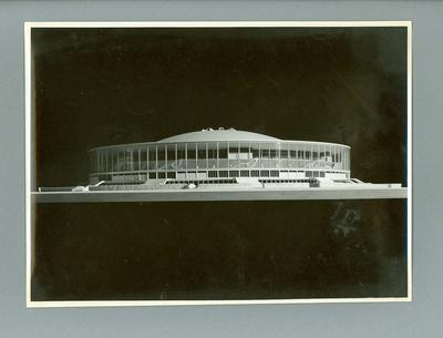 Photograph of stadium scale model, 1960 Olympic Games
