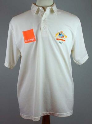 Cricket shirt issued to Shane Warne, c 2002; Clothing or accessories; 2007.32